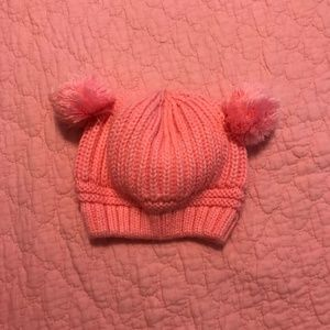 Other - Infant beanie with pompom ears